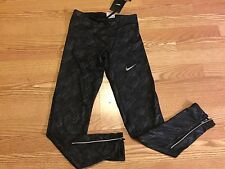 Nike Tech Running spandex compression leggings pants black Dri Fit S small