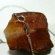 Collar de joyería de metales preciosos sin piedras de oro blanco de 14 quilates