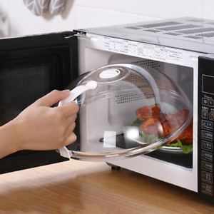 Plastic Microwave Plate Cover Clear Steam Anti-splatter Lid Food Dish Cover Tool