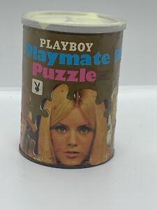 VINTAGE Playboy January 1967 Playmate Can Jigsaw Puzzle CONNIE KRESKI Preowned