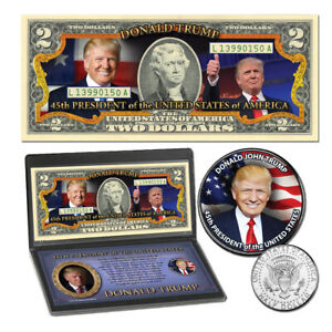 Donald Trump 45th President Coin & Currency Collection