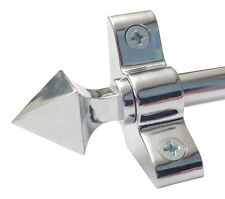 More details for polished  chrome stair rods pyramid finial 3/8 x 28.5 inch set of 13  (r03py)