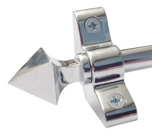 POLISHED  CHROME STAIR RODS PYRAMID FINIAL 3/8 x 28.5 INCH SET OF 13  (R03PY)