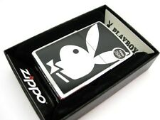 ZIPPO Full Size Brushed Chrome PLAYBOY Bunny Windproof Lighter 28269 New!