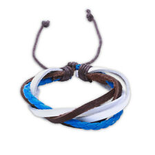 Leather Bracelet Adjustable Size Handmade Lace Up Clasp L472