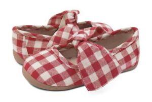 NIB Livie & Luca Halley Red Gingham Ballet Flat Shoes Girl 6