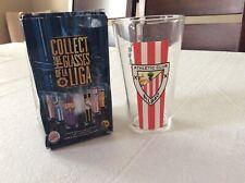 """Collectible """"la Liga� Soccer Glass, Original Box, Athletic Bilbao, Spain"""