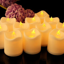 24pcs/set Flameless Battery Operated LED Tea Light Flickering Tealights Candles
