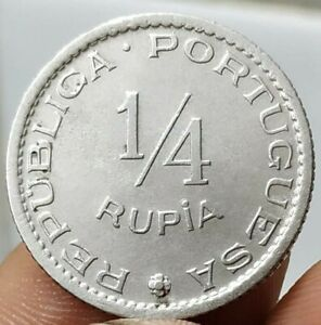 India Portuguese, 1/4 Rupia, 1952 (1947-52), KM# 26, Copper-Nickel Coin (B-571)