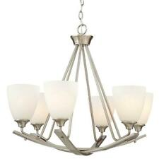 NEW!!  HOME DECORATORS  26 in. 6-Light Brushed Nickel Chandelier