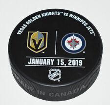 VEGAS GOLDEN KNIGHTS WINNIPEG JETS January 15, 2019 OFFICIAL WARM-UP GAME PUCK