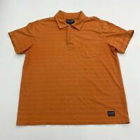 Nautica Jeans Co. Polo Shirt Mens Medium Short Sleeve Orange Chest Pocket Casual