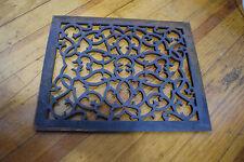 """Antique Cast Iron Floor Furnace Grate Decorative Scroll 16.5"""" x 13.5"""""""