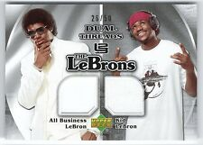 LeBRON JAMES 06 UPPER DECK THE LeBRONS DUAL JERSEY CARD #26/50!