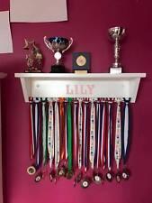 Personalized Medal Hanger Trophy Shelf - Dowel Bar