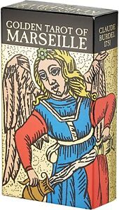 Tarot Golden Tarot Of Marseille- Claude Laufhaus 1751 - Editore LO SCARABEO