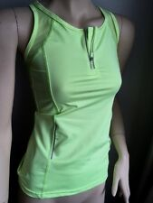 NEON VEST TOP YOGA SPORTS GYM RACER BACK RUNNING FITNESS UK 8 10 12 14 1 S M L