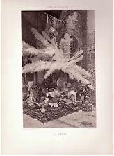"""AUTHENTIQUE GRAVURE DATANT DE 1913  """" LA SIESTE""""  PAR JOSE DE VILLEGAS. REF 175"""
