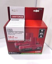 NEW Craftsman C3 19.2 Volt Compact Lithium Ion 2 Batteries 35709 19.2V