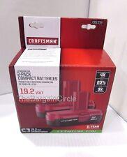 NEW Craftsman C3 19.2 Volt Compact Lithium Ion 2 Batteries 35709 19.2V