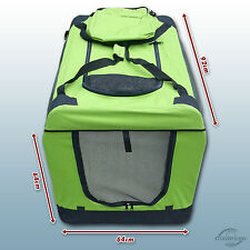 Faltbare Hunde Transportbox Auto Hundebox Box Größe XXL neon grün Hund