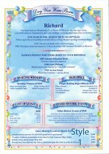 History on Your Special Day Personalised Gift A4 Printed Certificate or Digital