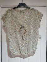 Pretty Zara TRF White Multi Floral Blouson Top, EUR Size M (UK Size 10/12) NWOT