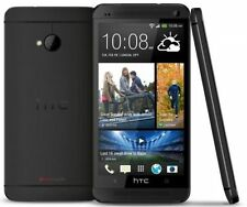 Teléfonos móviles libres negro HTC One con 32 GB de almacenaje