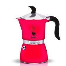 """BIALETTI Caffettiera espresso/coffee maker""""Fiammetta""""1 tz,colore FLUO STRAWBERRY"""