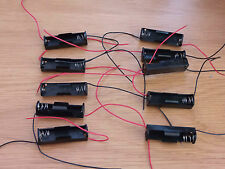 1 X AA Fly Leads Battery Holder pack of 10 robot projects school