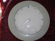 """Young Town Quarts White Clock Accurate Wall Office, Room 11.25"""" Diam. Gray Rim"""