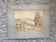 FAMOUS PHOTOG RARE WESTERN SCENIC: William Henry Jackson Mammoth Albumen Photo
