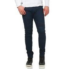 DIESEL Herren Skinny Stretch Biker Jeans Hose FOURK Dark Blue 084HR