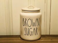 "Rae Dunn Artisan Collection By Magenta 2020 BROWN SUGAR LL Large 9.5"" Canister"