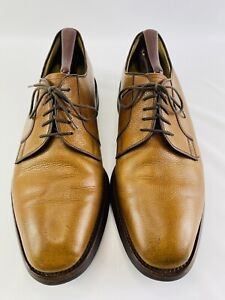 Charles Tyrwhitt Pebbled Brown Leather Oxford Lace up Dress Shoes Men's Sz10.5 M
