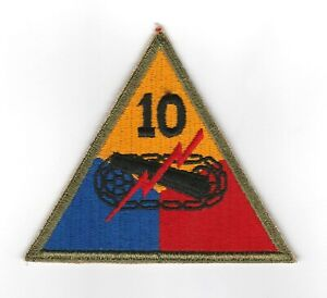 WWII - 10th ARMORED DIVISION (Original patch)