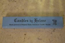 2 Candles By Helene Hand Poured Original Early American Candle Moulds