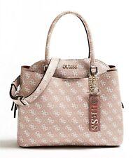 Guess Maci Large Girlfriend Satchel Rosewood Women's Handbag Strap Bag