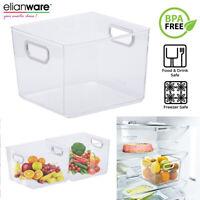 1pc Fruits Veg Organiser Handle Rack Box Storage Holder Tray Fridge Refrigerator