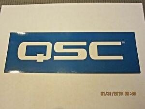 QSC AMPLIFIERS PRO AUDIO SPEAKER DECAL STICKER CASE RACK BUMPER STICKER NEW RARE