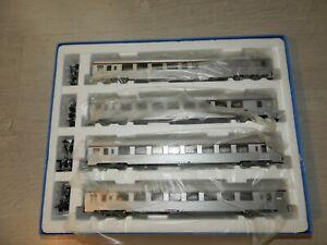 Set de 4 voitures TEE Mistral 69 JOUEF HJ cartouche corail