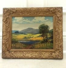 ORIGINAL GENUINE OIL PAINTING BY LEWIS ORIGINAL WOOD FRAME GESCO STUDIO PHILA PA