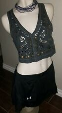 ABERCROMBIE & FITCH~GRAY STUDDED VEST  WOMENS - MEDIUM ~ EXCELLENT CONDITION!
