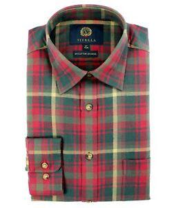 Viyella 80/20 Candian Maple Tartan Classic Fit Shirt