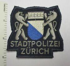 ZURICH SWITZERLAND STADT POLIZEI POLICE PATCH Cut Edge Vintage Original SWISS