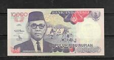 INDONESIA #131g 1998 10000 RUPIAH MINT CRISP BANKNOTE PAPER MONEY CURRENCY NOTE