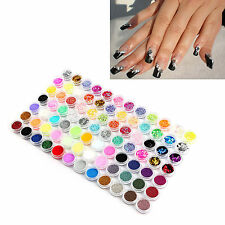 84 Colors Nail Art Glitter Powder Beads Dust Decor for Acrylic UV Gel Tips