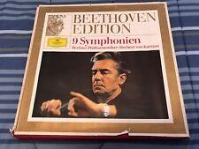 BEETHOVEN EDITION 9 SYMPHONIEN BERLINER PHILHARMONIKER 8 LP SET IN BOX!