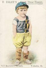 Vintage Advertising Trade Card. Child Smoking Pipe. Toledo,  Ohio