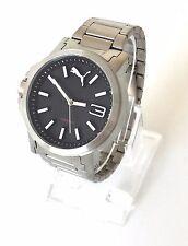 Puma Herren Uhr Ultrasize silber schwarz weiß Edelstahl sportlich PU103462018